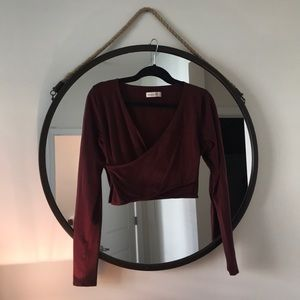 Abercrombie & Fitch Stretchy Wrap Crop Top